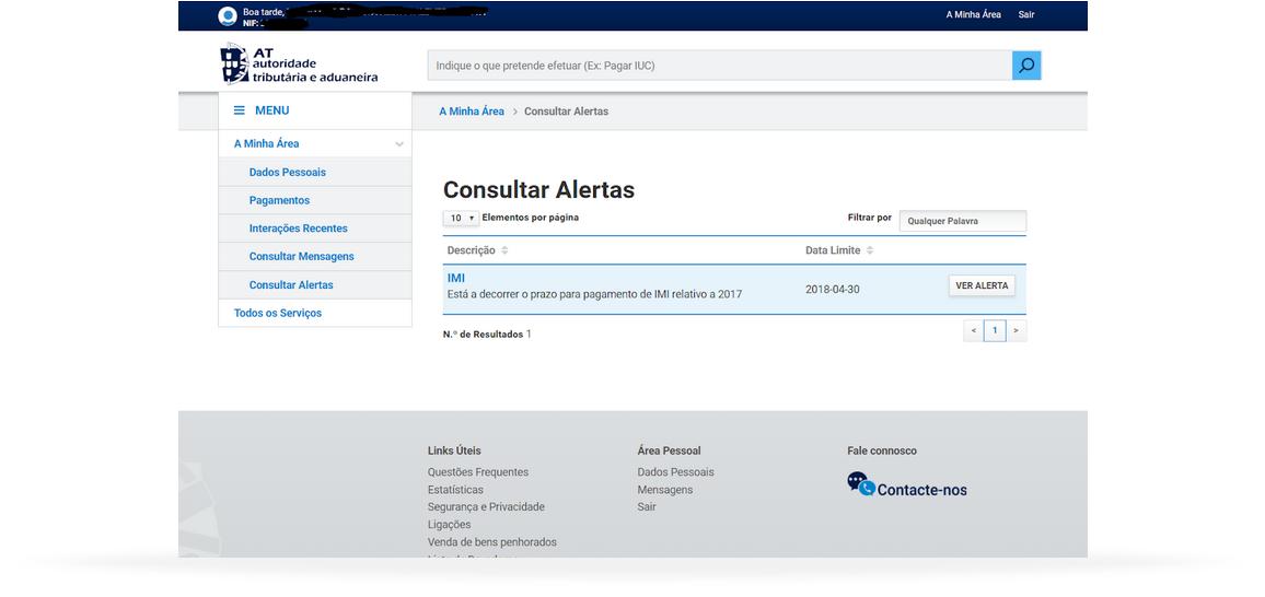 Portal Finanças
